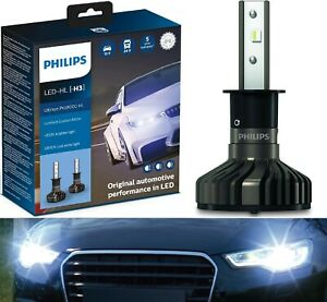 Philips Ultinon Pro9000 LED 5800K H3 Two Bulbs Fog Light Replace Upgrade Stock