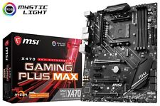MSI X470 GAMING PLUS MAX AM4 AMD X470 SATAIII 6Gb/s USB3.2 Gen2 ATX Motherboard