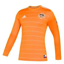 Houston Dynamo MLS Adidas Men's Orange Authentic On-Field Long Sleeve Jersey