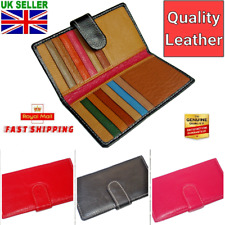 Portable Mini Genuine Real Leather Credit ID Business Card Holder Pocket Wallet