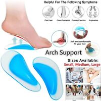 Orthopedic Gel Arch Support Insoles Flat Feet Support Gel Soft Pads Silicone