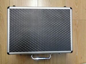 Alloy rc  transmitter case in excellent condition lined out with foam