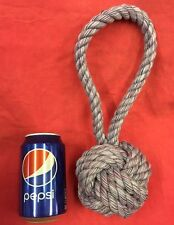 "Rope Dog Toy PURPLE MASSIVE 4 INCH KNOT 12"" healthy teeth Gum Thick Tough Strong"