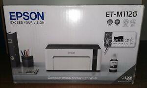 EPSON STAMPANTE NUOVA Bianco Nero WIFI A4 ECOTANK ET-M1120 INK-JET RICARICABILE