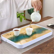ABS Dock+ Natural Bamboo Gongfu Tea Tray Japanese Serving Table For 1-2 People