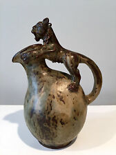 Bode Willumsen for Royal Copenhagen Footed Stoneware Jug with Lion Handle 1940s
