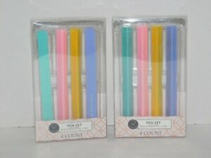 Pen Set TWO Sets of 4 Novelty Gift for Spellcheck Friends To Too Two, Buy By Bye