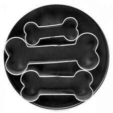Fox Run 3 pc Dog Bones Stainless Steel Cookie Cutter Set - Biscuit Pastry Mold