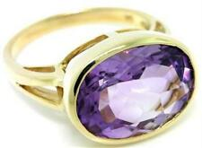 Natural 16.0ct Amethyst 9ct 9k 375 Solid Gold Ring - Bravo Jewellery