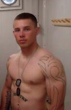 Shirtless Male Muscular Beefcake Military Stud Jock Tattooed Hunk PHOTO 4X6 F210