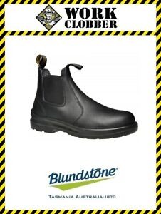 Blundstone Black Elastic Side Safety Boot 330 NEW IN BOX!