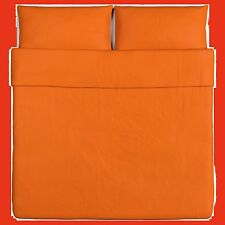 IKEA Dvala NEW Orange KING Duvet Cover SET Pillowcase-2-Pillow Case Cotton NIP