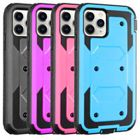 For iPhone 11 Pro/11/11Pro Max Case Hybrid Clip Holster Stand Hard Phone Cover