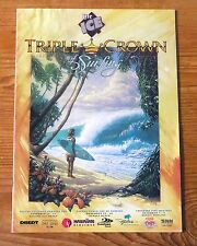 Rare 1994 TRIPLE CROWN of SURFING Program XLNT MINT