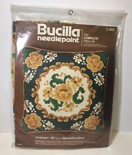 BUCILLA- Victorian Needlepoint Complete Pillow Kit-#4101 Yellow Flower- NEW