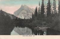 Echo River, Banff, Alberta, Canada, Early Hand Colored Postcard, Unused