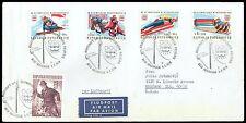 1975 Austria Scott B331-B334 '76 Innsbruck Winter Olympic Games on airmail cover