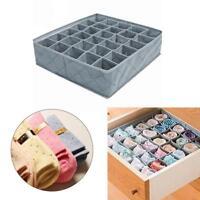 30 Grids Unterwäsche Container Divider Closet Bh Socken Krawatten Aufbewahr U4F7