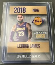 2018 LeBron James los Angeles Lakers oro/platino Promo Card-Como Nuevo +
