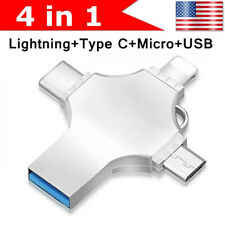 For iPhone Android OTG Type-C/Lightning/Micro USB Flash Thumb Pen Drive 64 512GB