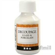 Decoupage Glass & Porcelain Lacquer 100ml  - great quality