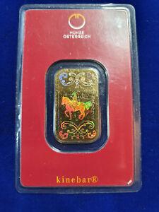 ✨10 gram .9999 Gold Bar - Austrian Mint KineBar Design (In Assay) SHIPS FAST!