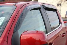 Chevy Colorado Crew Cab 2015 - 2019 Tape-On Wind Deflector Vent Visor Shades 4pc