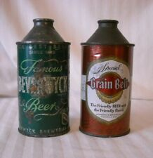 A Pair Of Cone Top Beer Cans - Beverwyck & Grain Belt