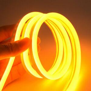 1/2/4M  LED Neon Tube Strip Light DC 12V Waterproof Flexible Rope Fairy Lights