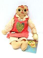 "Raggedy ANDY Toni Duhon Tattered Rabbit Farm Folk Doll 17"""