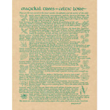 """Magickal Trees in Celtic Lore Poster 8.5 x 11"""" Parchment Book of Shadows Page"""
