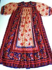 Vintage 70's Ritu Kumar For Judith Ann Caftan Dress Silk Hand Block Print RARE!!