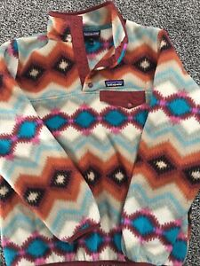 Patagonia Synchilla Snap T Aztec Timber Twist Pattern Fleece Women's Small