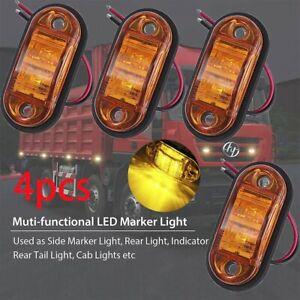4pcs LED Seitenmarkierungsleuchten 12V für Auto LKW Anhänger Wasserdicht -DE