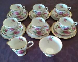 Royal Stafford Carnation Bone China Tea Set Genuine