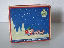 schöne Zigaretten Blechdose - von 1936  - Rezie Tabak - Weihnachten