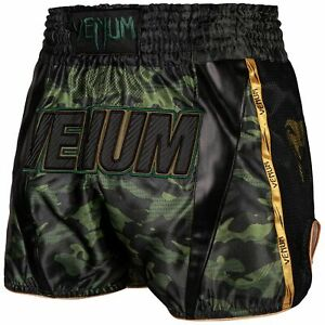VENUM FULL CAM MUAY THAI SHORTS - VARIOUS SIZES - GREEN OR GREY