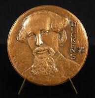 Medal Charles Dickens Novelist Num 14/100 1970 David Copperfield 70 mm Medal