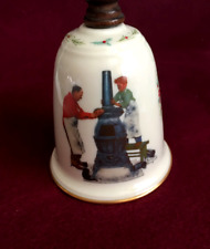 Norman Rockwell collectible bell- Coal Season's Coming-1982 B&B Usa Gorham