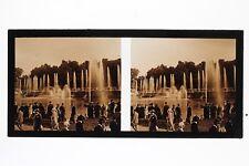 Versailles Grandes Eaux France Mode Photo B7 stereo Plaque Vintage 1926