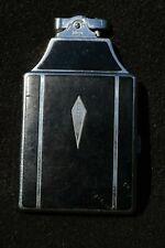 Black Enamel Art Deco Ronson Cigarette Lighter and Master Case--Sparks!