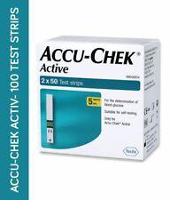 Accu-Chek Active 100 Test Strips, 2*50 Strips, No Code Chip
