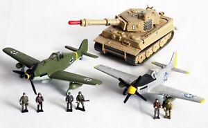 Galoob Battle Squads *Rare Lot* Focke-Wulf 190, Sturmtiger Tank, P-51 Mustang