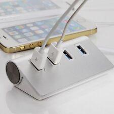 4 Port USB 3.0 Multi HUB Splitter Aluminum Adapter High Speed For PC Lapto DY