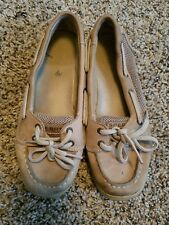 Used Kids Sperry Top Spider Tan Boat Shoe size 2