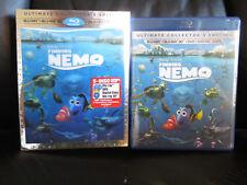Finding Nemo 5 Disc 3D/2D Blu-Ray Dvd Digital Copy Lenticular Slip Region Free