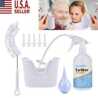 Ear Wax Cleaner Earwax Removal Kit Earwax Cleaning Tool with Basin 5 Tips US NEW