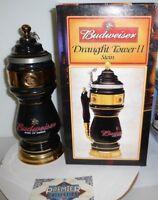 Black Budweiser Draught Tower II Stein CS542 by Anheuser-Busch character stein