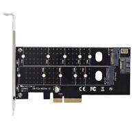 Dual M.2 Pcie Adapter, M2 Ssd Nvme (M Key) Or Sata (B Key) 22110 2280 2260 22 W7
