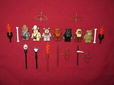 LEGO Star Wars minifigures Ewoks LOT Teebo,Logray,Chirpa,Wicket,Wunko,Tippet +